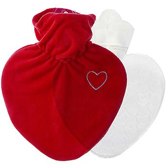 Hugo Frosch Hot Water Bottle met Love hart Cover 1L