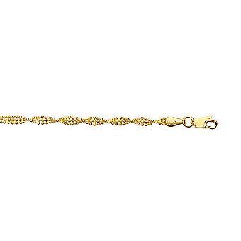 14 k gule vridd perle armbånd - 2,5 gram - 7 tommers