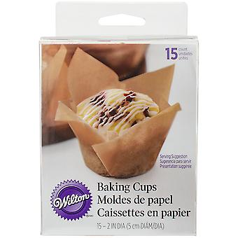 Pleated Standard Baking Cups-Kraft 15/Pkg W50804