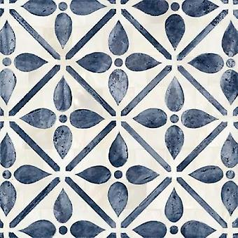 Blue Moroccan Tile 1 Poster Print by Hope Smith