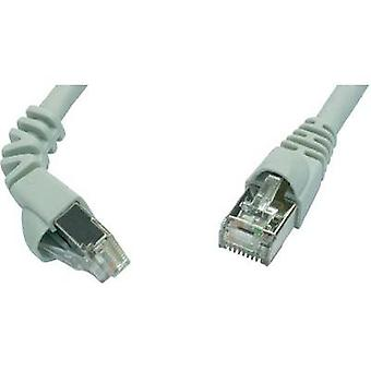 RJ49 Networks Cable CAT 6A S/FTP 5 m Grey Flame-retardant, incl. detent Telegärtner