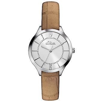 s.Oliver women's watch polshorloge lederen SO-3122-LQ