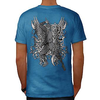 Immortal Sun Warrior Ninja Fear Men Royal Blue T-shirt Back | Wellcoda