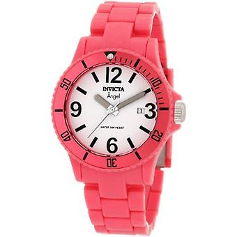Invicta Women's 1209 Angel White Dial Pink Plastic Watch