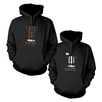 Chocolate And Marshmallow Couple Matching Hoodies Hooded Sweatshirts