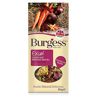Burgess Excel Salad Snacks Carrot & Beetroot 60g (Pack of 6)