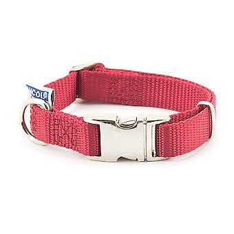 Edición limitada Nylon ajustable Collar Claret 20-30cm