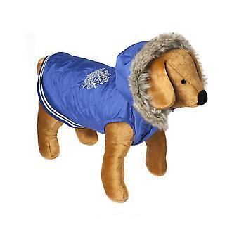 Doggy ting vaffel frakke blå Large 50cm