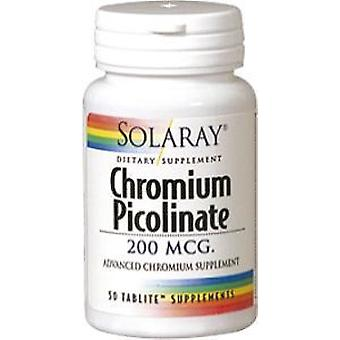 Solaray Chromium Picolinate 200 MCG 50 Tablets (Vitamins & supplements , Minerals)