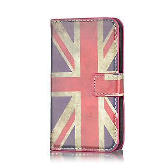 Designa boken plånbok PU läder fallet för Nokia Lumia 1320 - Union Jack