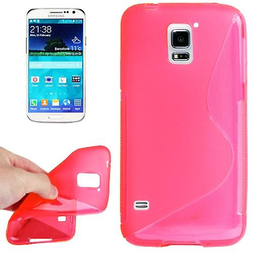 S-line silicone case Pink for Samsung Galaxy S5