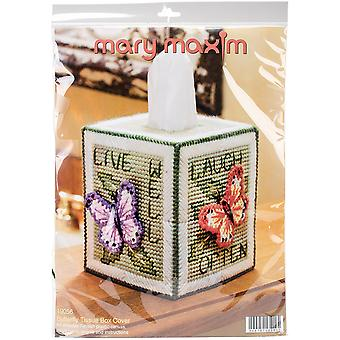 Butterfly Tissue Box Plastic Canvas Kit-5