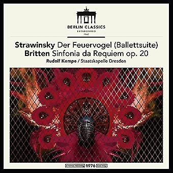 Britten / Stravinsky / Kempe / Dresden - Britten y Stravinsky: Firebird Suite [vinilo] USA importar