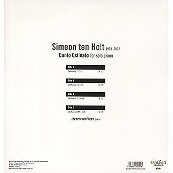 Jeroen Van Veen - Ten Holt: Canto Ostinato for Solo Piano [Vinyl] USA import