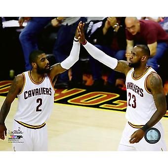Kyrie Irving & LeBron James Game 4 of the 2017 NBA Finals Photo Print