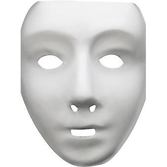 Robotermaske weiß Robot Halloween Theater Venezia Maske