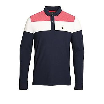 LUKE SPORT Mickey Spacer Long Sleeve Polo Shirt | Lux Navy
