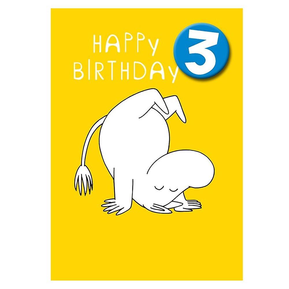 Hype Moomin Age 3 Badge Greeting Card