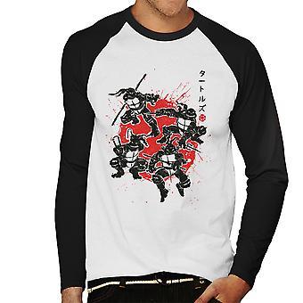 Ninja Turtles Mutant Warrior Men's Baseball Long Sleeved T-Shirt