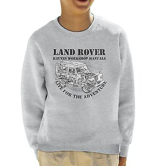 Haynes Besitzer Workshop Manual Land Rover Adventure Black Kids Sweatshirt