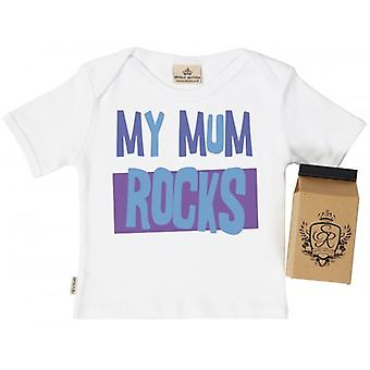 Spoilt Rotten My Mum ROCKS Toddler T-Shirt 100% Organic Cotton