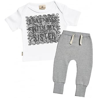 Spoilt Rotten Don't Mess With My Sister Baby T-Shirt & Joggers Outfit Set