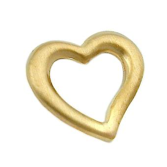 little golden wings heart gold 375 pendant, heart mat, 9 KT GOLD