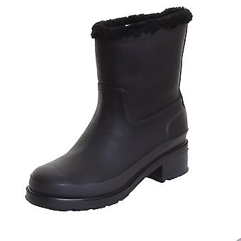 Hunter Original Shearling Lined Leather Ankle Ladies Boot