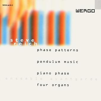 S. Reich - fase mønstre. Pendulum Music. Pianophase. Fire O [CD] USA import