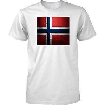 Norwegen Flagge der Grunge-Effekt - T-Shirt für Herren