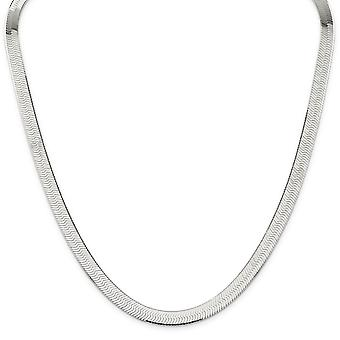 Sterling Silver Solid Polished Lobster Claw Closure 8mm Magic Herringbone Link Bracelet - Lobster Claw - Length: 7 to 8