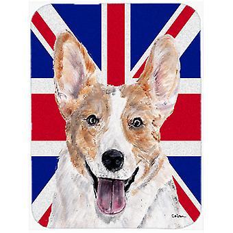 Cardigan Corgi med engelsk Union Jack britiske flagget Glass kutte styret stort Si