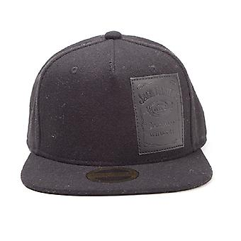 Jack Daniels Baseball Cap Woven Bottle Logo Official Black strapback