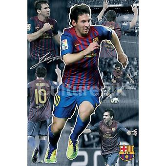 FC Barcelona Lionel Messi Collage 2011 - 2012 Poster Poster Print