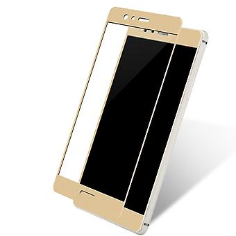 Huawei P8 Lite 2017 3D armoured glass foil display 9 H protective film covers case gold