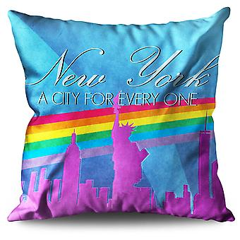 Pride Love Urban New York Linen Cushion Pride Love Urban New York | Wellcoda