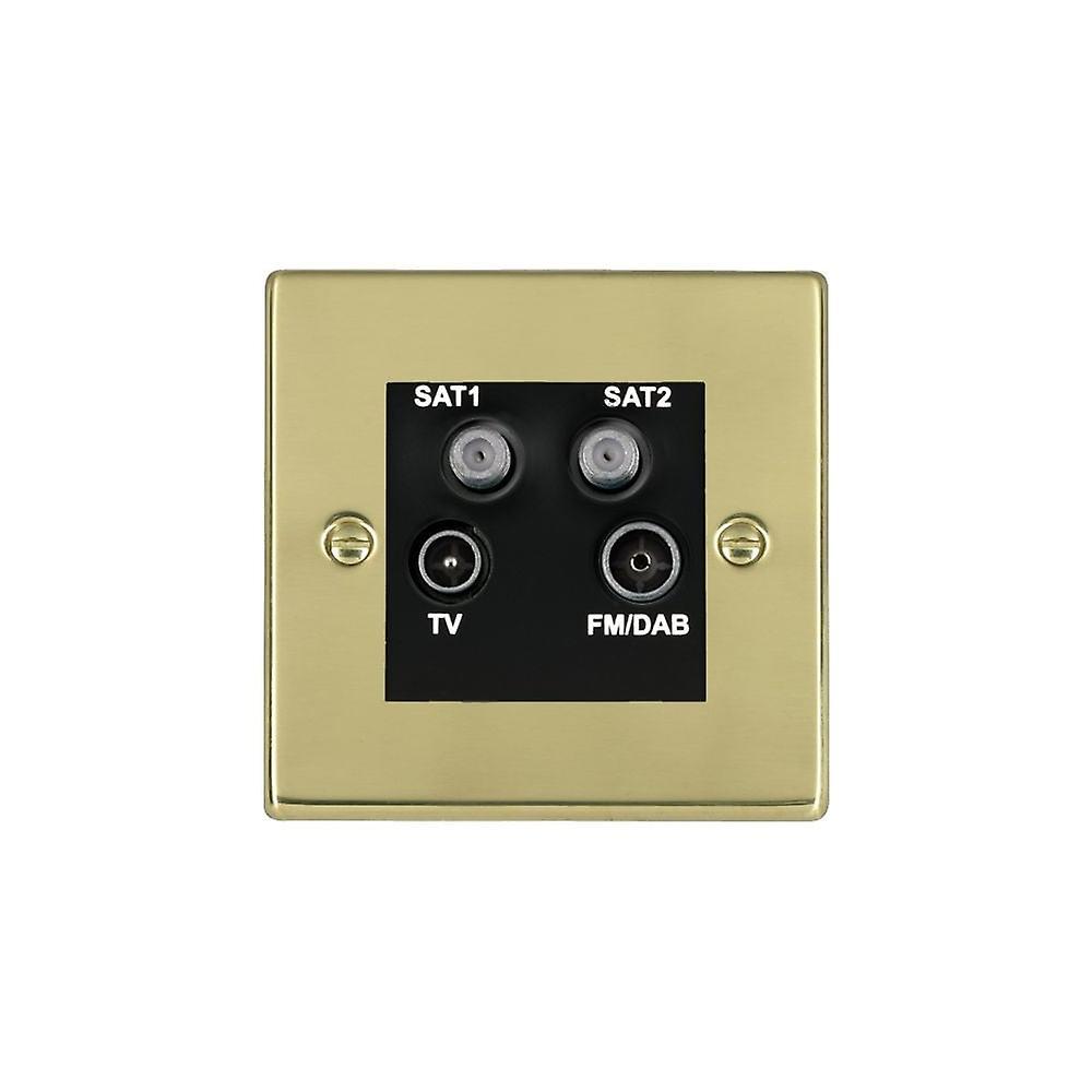 Hamilton Litestat Hartland Polished Brass Non-Isolated TV+FM+2XSAT BL