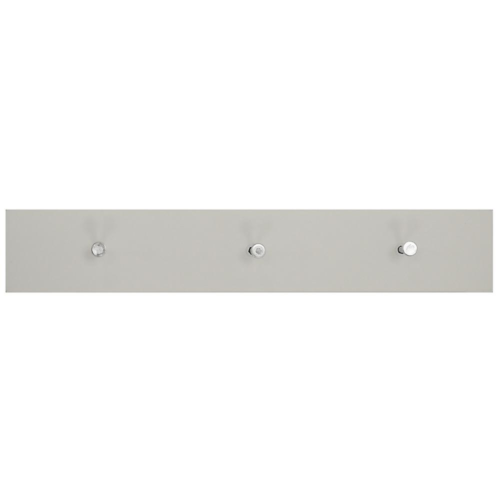 Ellis - Wall Mounted 40cm Floating 3 Coat Hook Shelf / Bathroom Storage - White