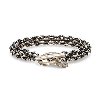 Eleventy men's 979BR0062BRA2402334 grey metal bracelet
