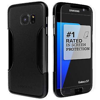 SaharaCase Galaxy S7 Scorpion Black Case, Classic Protection Kit with ZeroDamage Tempered Glass