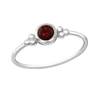 Redondo - plata de ley 925 Jewelled anillos - W20442X