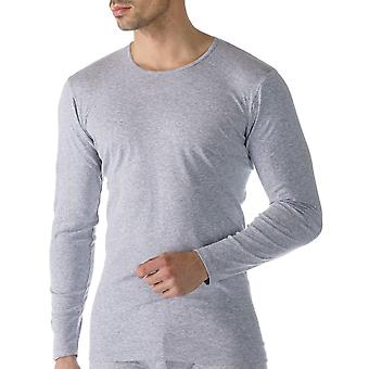 Mey 49104-620 Men's Casual Cotton Grey Solid Colour Long Sleeve Top