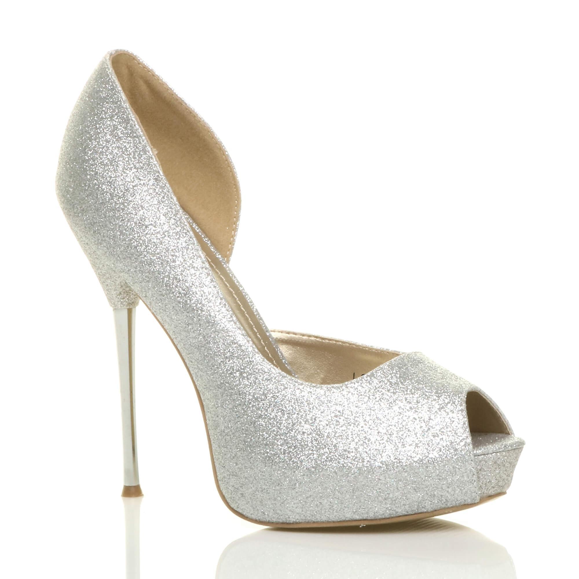 glitter pumps womens shoes party prom stiletto platform heel sandals wedding high Ajvani PCOnqRIq