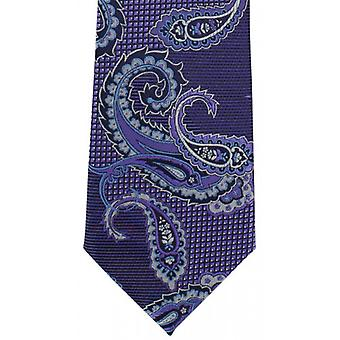 Michelsons av London Twill Paisley Polyester slips - lila