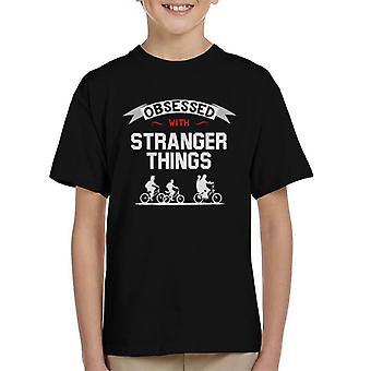 Geobsedeerd met vreemde dingen Kid's T-Shirt