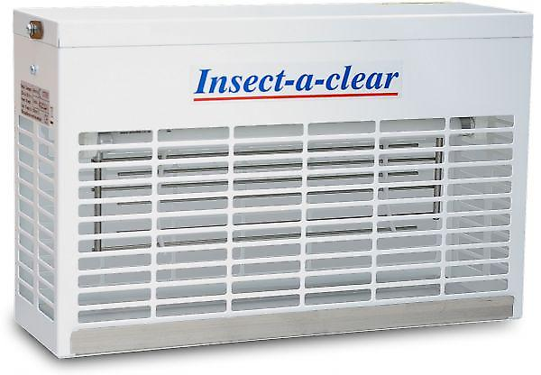 Electric Fly Killer | Compact 15w | 15 Watt | White Steel | Insect-a-clear