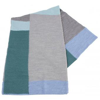 Bassin and Brown Mackinnon Oblong Scarf - Grey/Mint/Blue
