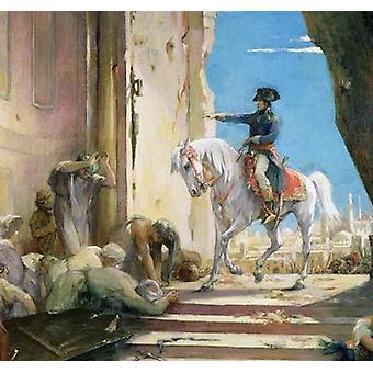 Napoléon Bonaparte (1769-1821) dans le Grand .. - Toile d'art