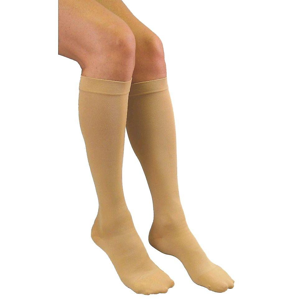 Pebble UK Medical Weight Wide Kalf Compression Socks [Style P200W] Beige XXXL