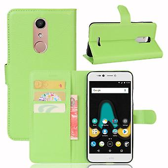 Pocket wallet premium green-to WIKO Upulse Lite protection sleeve case cover pouch new